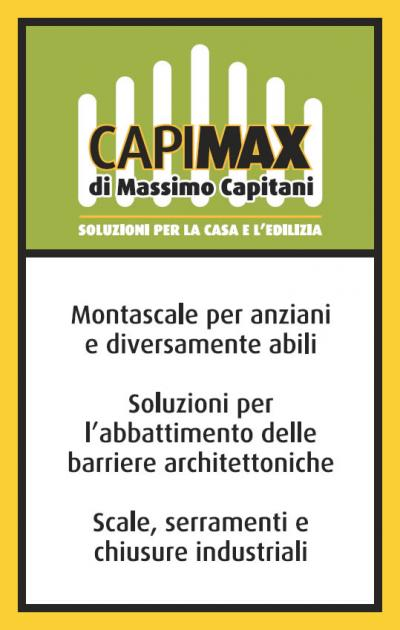 Biglietto da visita Capimax fronte