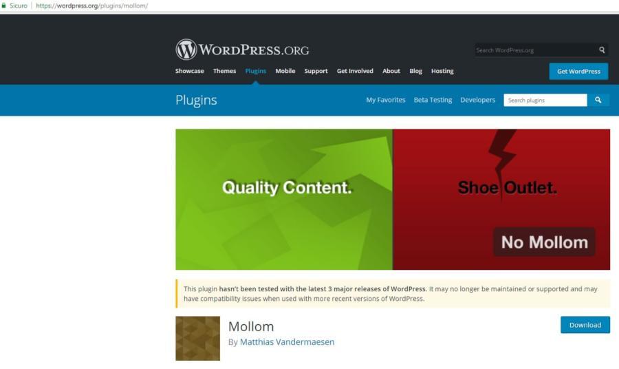 Il modulo Mollom per WordPress