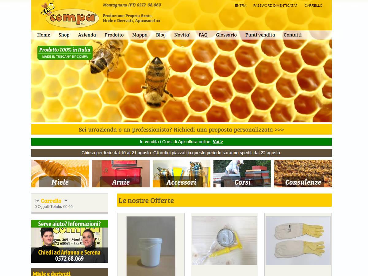 Restyling sito Apicoltura Compa