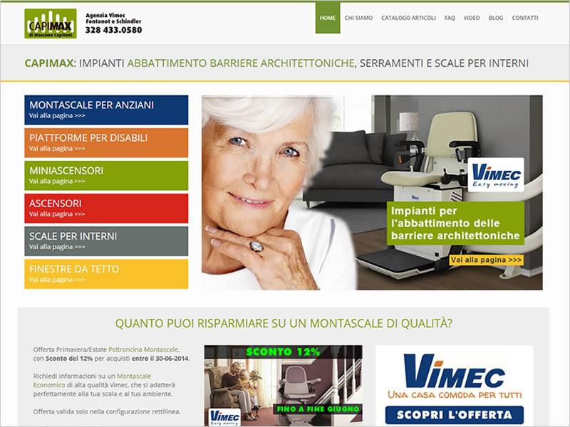 Restyling sito Capimax di Massimo Capitani