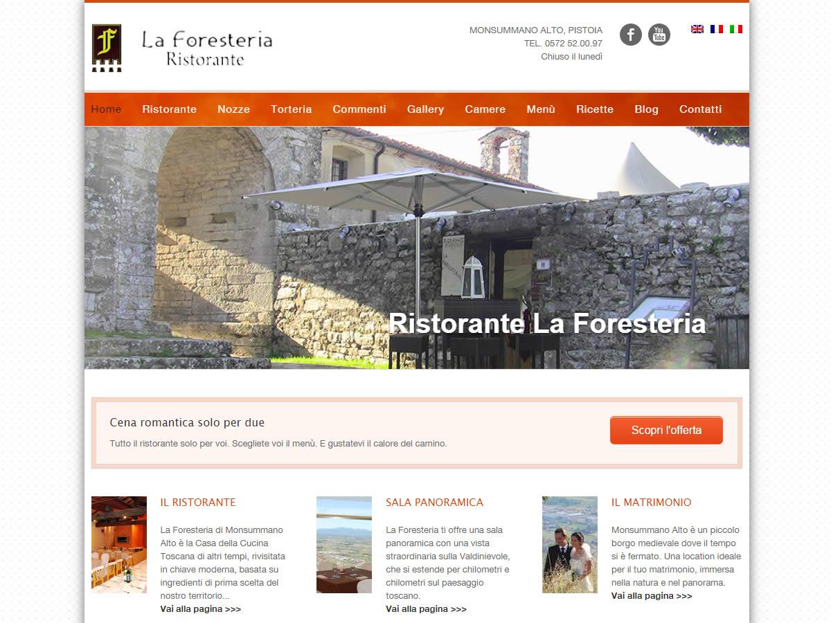 Restyling sito Ristorante La Foresteria