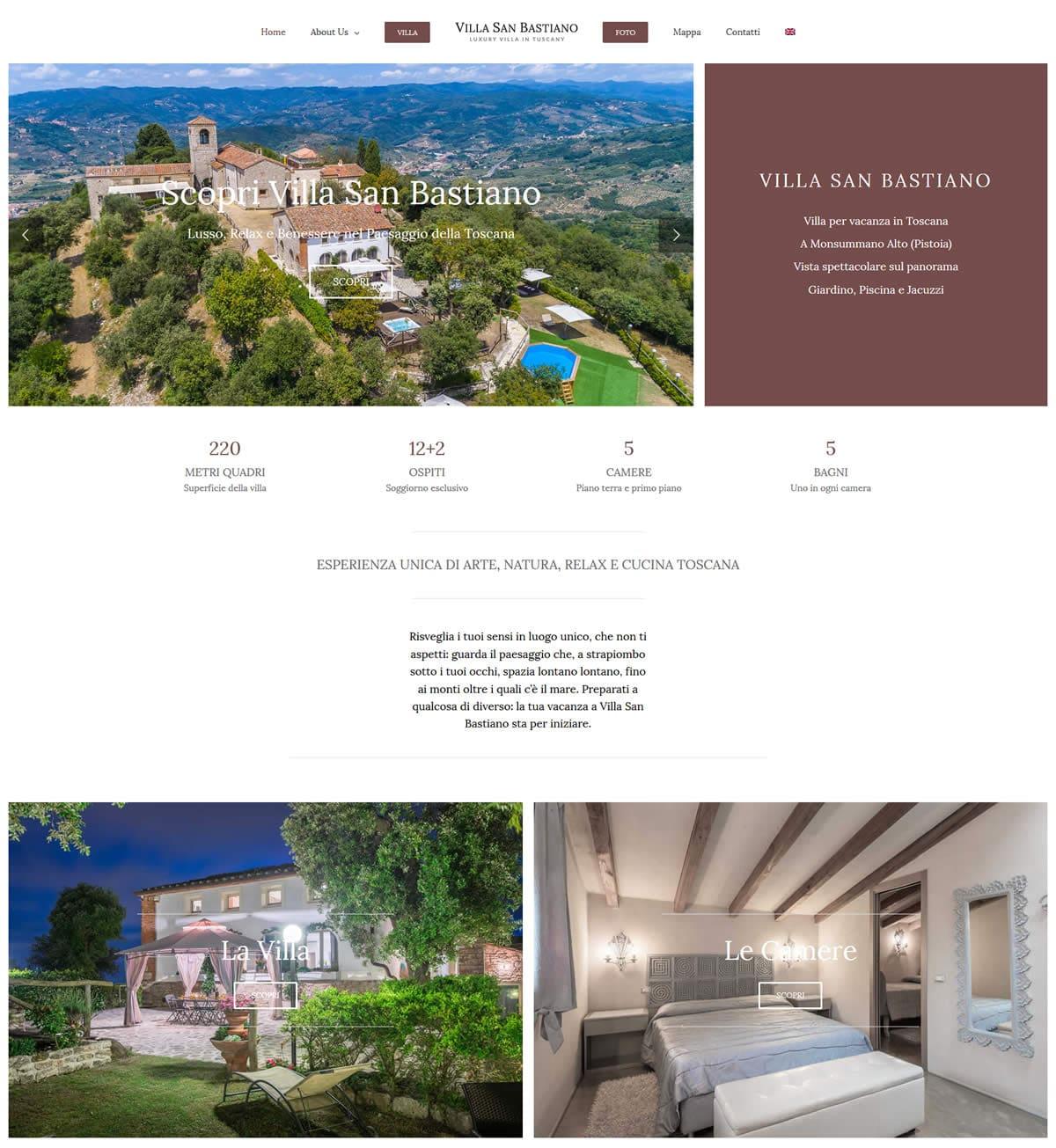 Sito per villa vacanze in Toscana